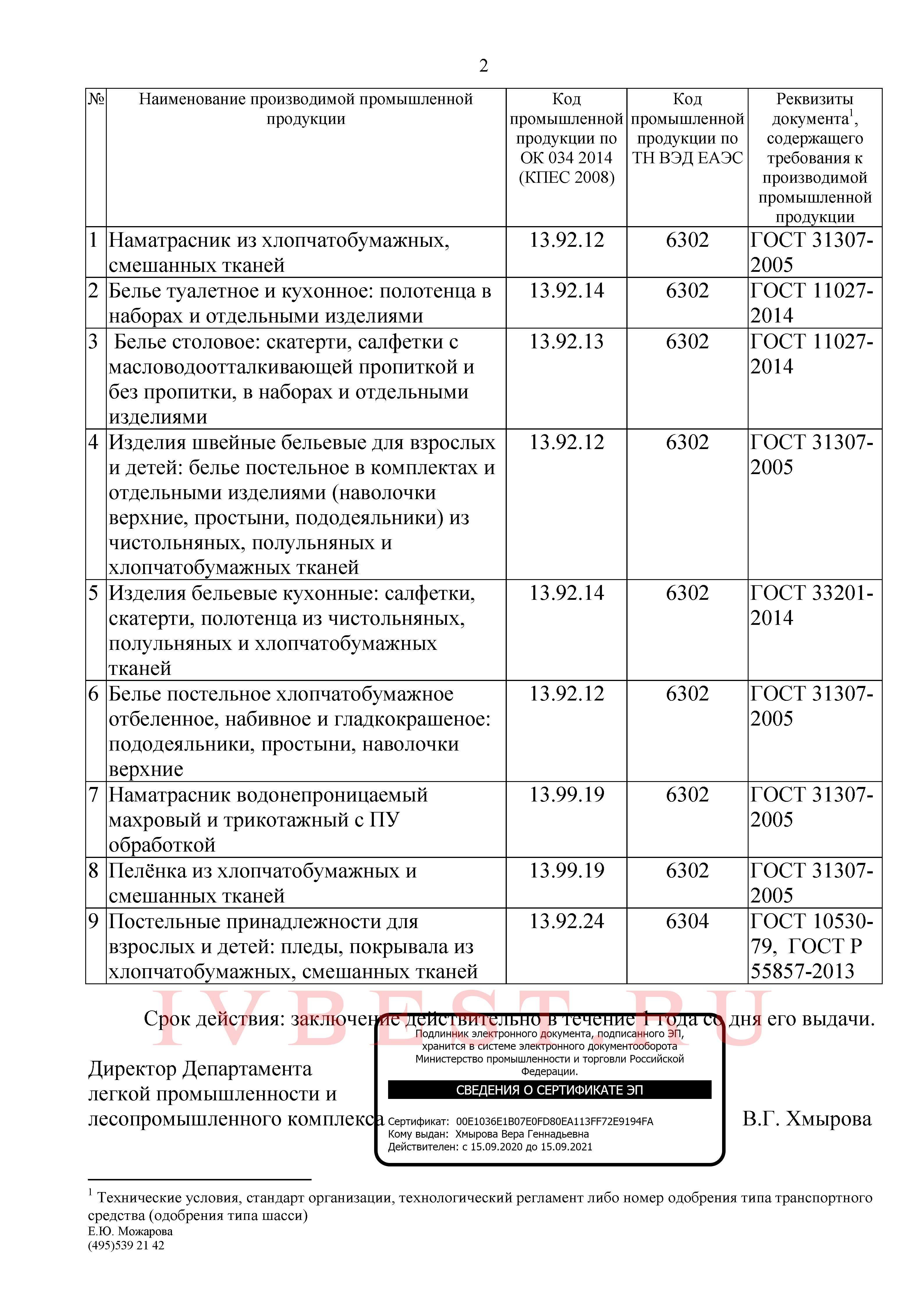 Сертификат Минпромторга стр.2